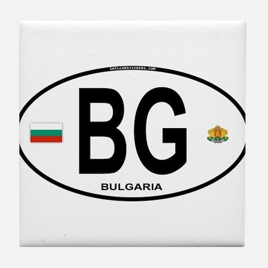 Bulgaria Euro Oval Tile Coaster