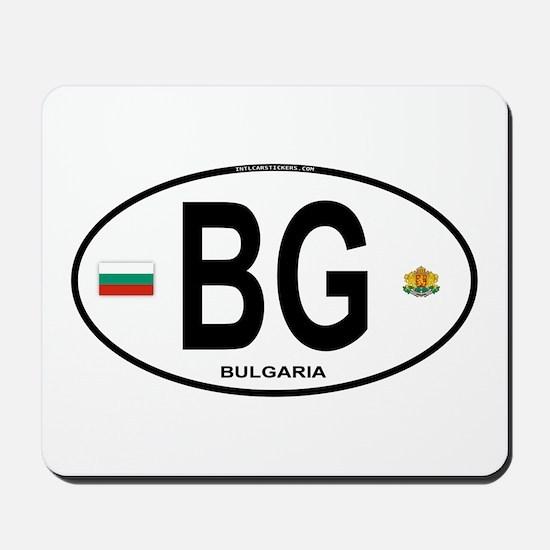 Bulgaria Euro Oval Mousepad