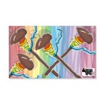 Rainbow Spindles Wall Decal