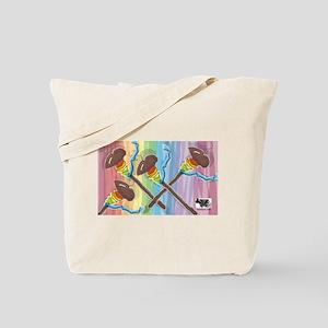 Rainbow Spindles Tote Bag