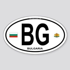 Bulgaria Euro Oval Oval Sticker