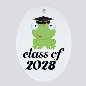 Class Of 2028 frog Ornament (Oval)