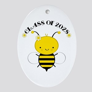 Class Of 2028 bee Ornament (Oval)