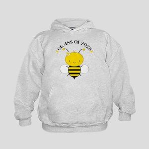 Class Of 2028 bee Kids Hoodie