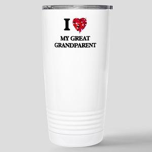 I Love My Great Grandpa Stainless Steel Travel Mug
