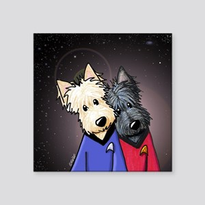 "Star Trek Scotty Scotties Square Sticker 3"" x 3"""