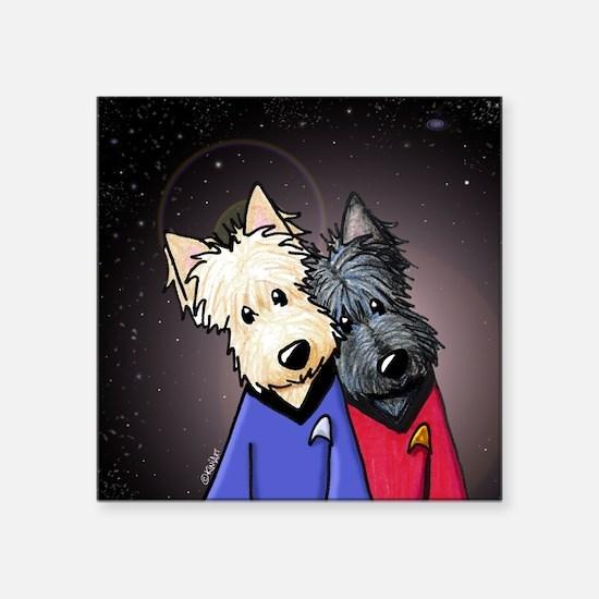 "Star Trek Scotty Scotties Square Sticker 3"" x 3"""