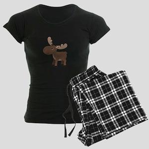 Cartoon Moose Women's Dark Pajamas