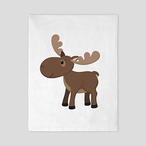 Cartoon Moose Twin Duvet