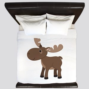 Cartoon Moose King Duvet