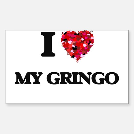 I Love My Gringo Decal