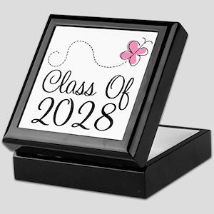 Class of 2028 Butterfly Keepsake Box