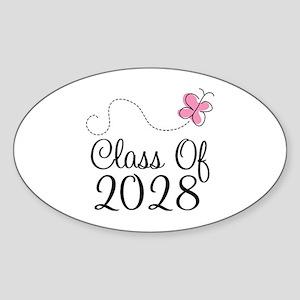 Class of 2028 Butterfly Sticker (Oval)