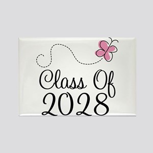 Class of 2028 Butterfly Rectangle Magnet
