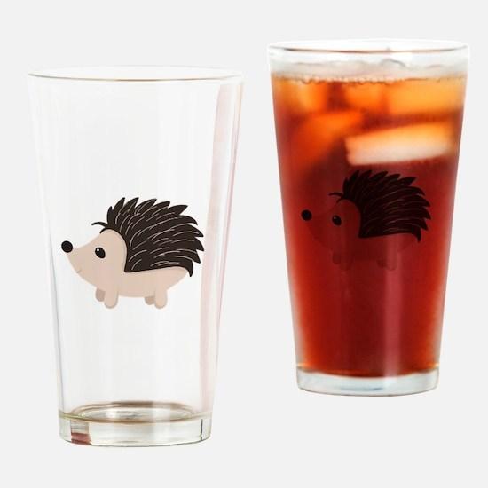 Cartoon Porcupine Drinking Glass
