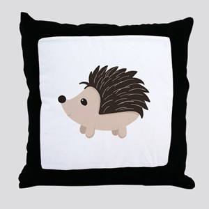 Cartoon Porcupine Throw Pillow