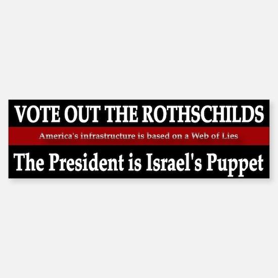 Vote Out The Rothschilds - Bumper Bumper Bumper Sticker
