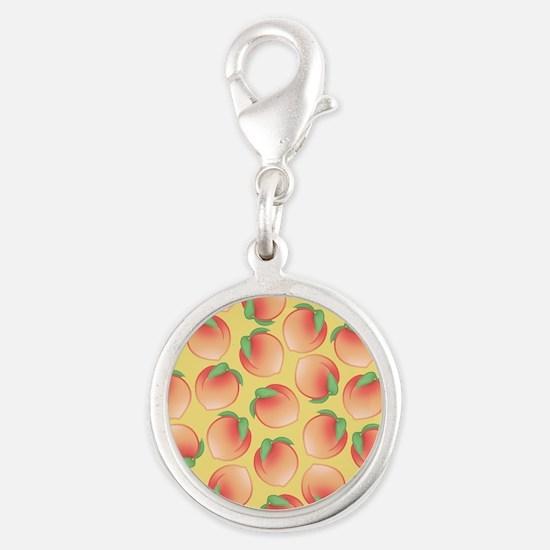 Cute Peach Pattern Charms