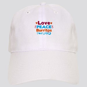 Love Peace Burritos Baseball Cap