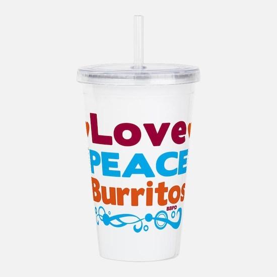 Love Peace Burritos Acrylic Double-wall Tumbler