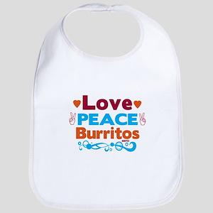 Love Peace Burritos Bib