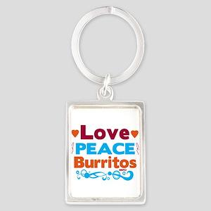 Love Peace Burritos Keychains