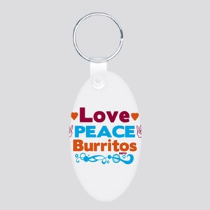 Love Peace Burritos Keychains