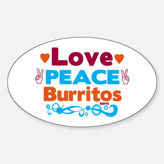 Love Peace Burritos Decal