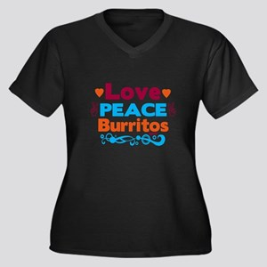 Love Peace Burritos Plus Size T-Shirt