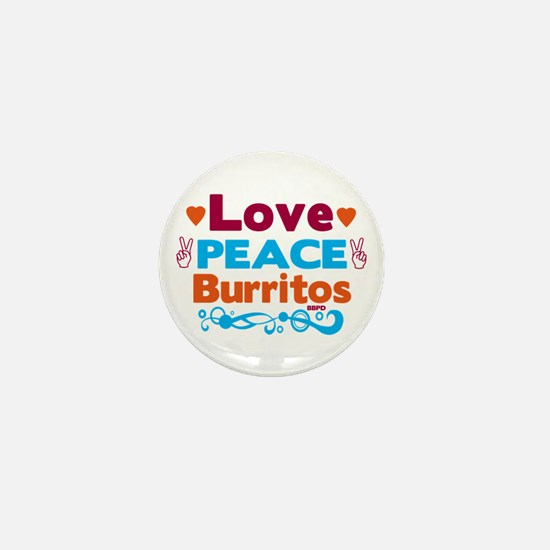 Love Peace Burritos Mini Button