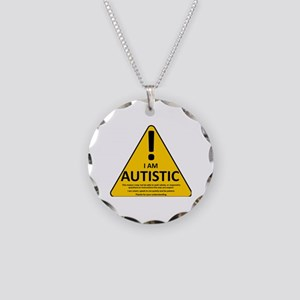 Autism Triad Necklace Circle Charm