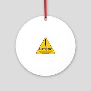 Autism Triad Round Ornament