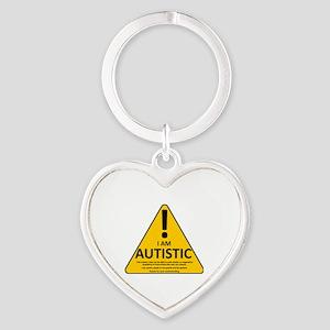 Autism Triad Heart Keychain