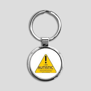 Autism Triad Round Keychain