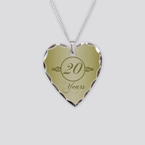 20th Anniversary Necklace Heart Charm