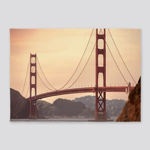 Beautiful Golden Gate Bridge 5'x7'Area Rug