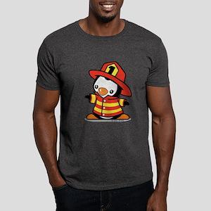 Firefighter Penguin (a) Dark T-Shirt
