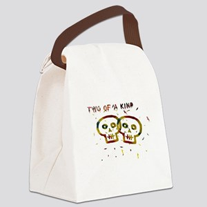 Two of a Kind Skulls Canvas Lunch Bag