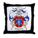 Migueis Family Crest Throw Pillow