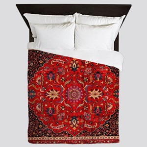 Persian Mashad Rug Queen Duvet