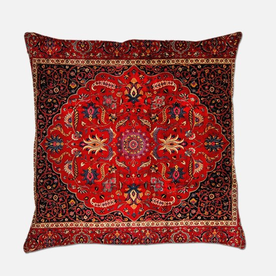 Persian Mashad Rug Everyday Pillow