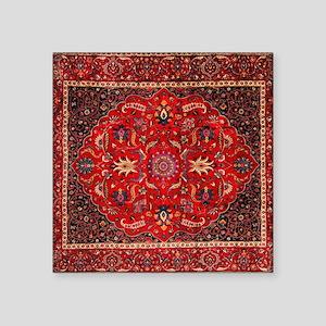 "Persian Mashad Rug Square Sticker 3"" x 3"""