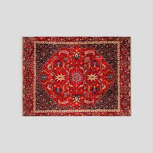 Persian Mashad Rug 5'x7'Area Rug