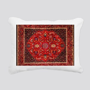 Persian Mashad Rug Rectangular Canvas Pillow