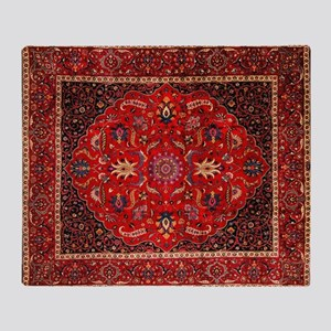 Persian Mashad Rug Throw Blanket