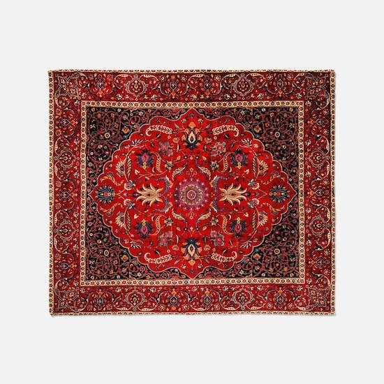 Persian Mashad Rug Throw Blanket