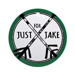 Just For Jake Logo - Green Ornament (Round)
