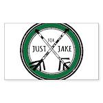 Just For Jake Logo - Green Sticker