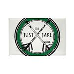 Just For Jake Logo - Green Magnets