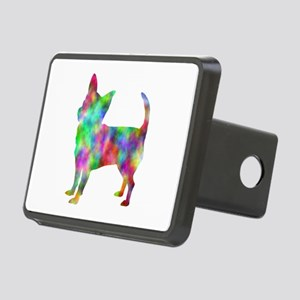 Multi Color Chihuahua Rectangular Hitch Cover